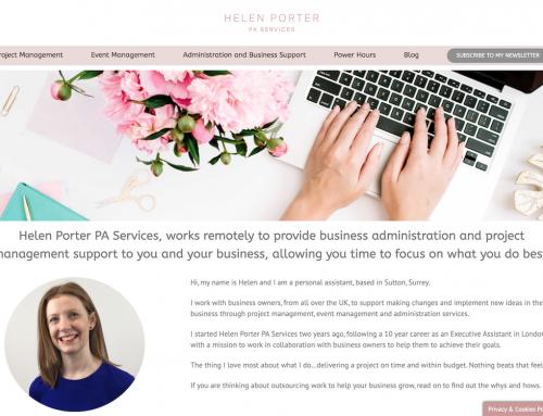 Helen Porter PA Website Rebuild